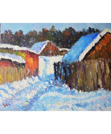 Зима в деревне,  2012 г.