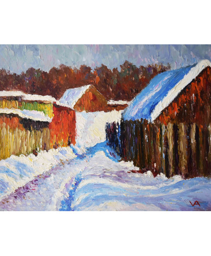 Зима в деревне. 2012 г.